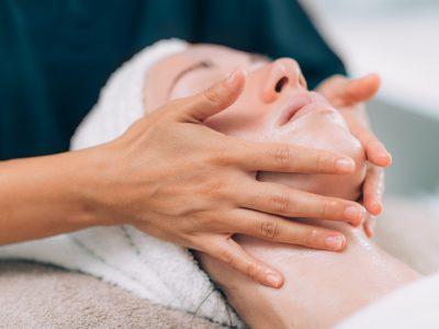 Facial Massage in Beauty Salon